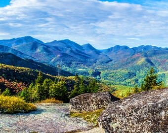 Fall Foliage, Adirondack Mountains, High Peaks, Mountain Landscape, Autumn Photograph, Keene Valley, Autumn Scenery, Adirondack Photograph