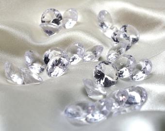 100 Large Diamond Scatter Confetti 20mm Acrylic Gems Wedding Table Decor