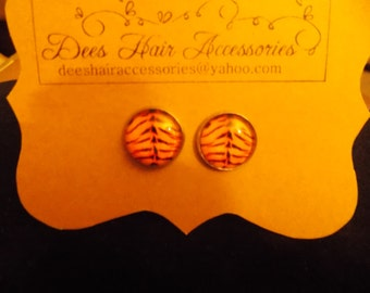 Tiger Cabochon stud earrings