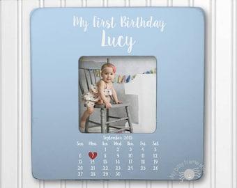 Baby Birthday Frame First Birthday Gift 1st Birthday 1st Birthday Gift Unique Birthday Gift Baby Birthday My First Calendar IB3FSBABY