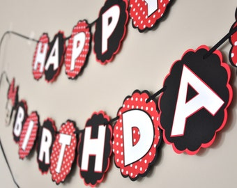 Mickey and Minnie Birthday Banner