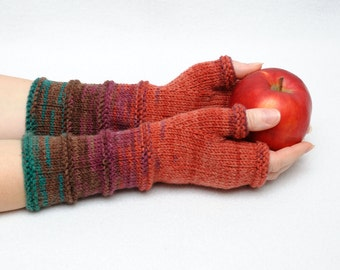 Winter Gloves Gift for her girlfriend gift for womens accessories knit gloves gift idea Long fingerless gloves knit mittens Arm warmers