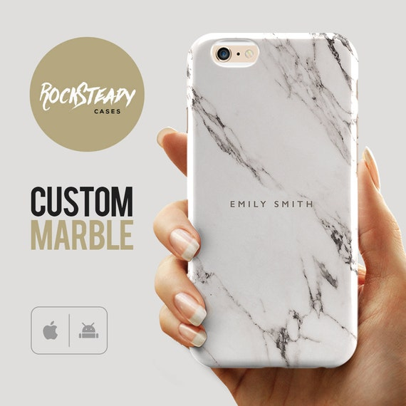 Custom Name Marble Phone case, personalised marble iPhone 6s case ...