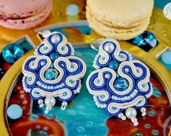 Sea Shell - Handmade Soutache Earrings
