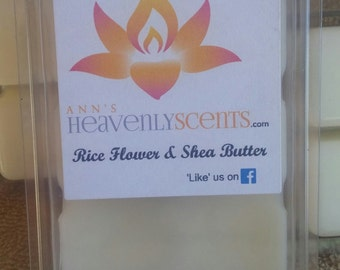 Rice Flower & Shea Butter Scented Wax Melt/ Tarts/ Hand Poured
