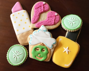 Decorated Spa Cookies