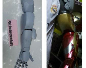 Iron man arm mark 42/43 replica raw cast kits lifesize