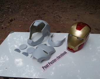 Iron man helmet mark 7 raw cast replica scale 1:1 Special Edition