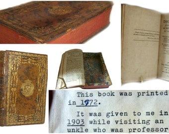 18th Century Antique Hollow Book Safe - French Leather Binding - Nouveau Dictionnaire De Medecine & De Chirurgie - 1772 Paris