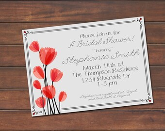 Simple Bridal Shower Invite