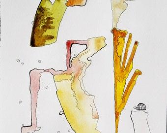 TURTLE watercolor illustration