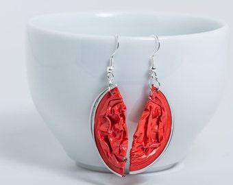 Upcycling earrings capsule coffee capsule