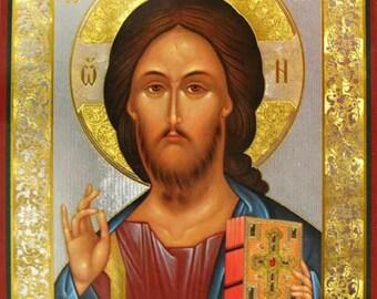 Christ Pantocrator russian icon - #14bb