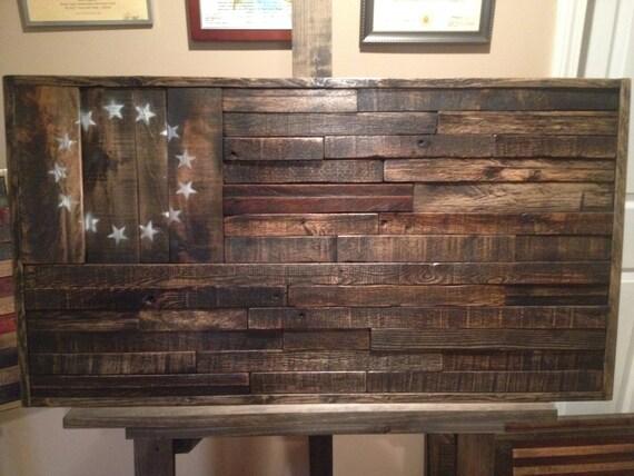 Like this item? - Reclaimed Wood American FlagHandmade Wood Flag Rustic Home