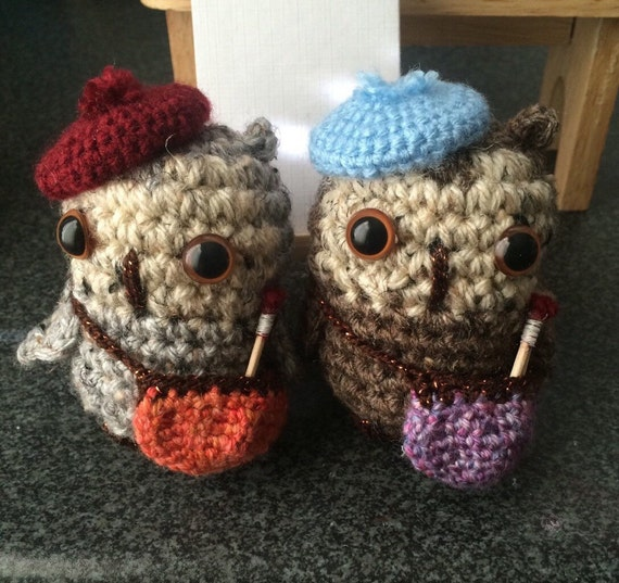 Amigurumi Doll House : 1 or 2 crochet amigurumi doll. Crochet owl. Amigurumi. Doll