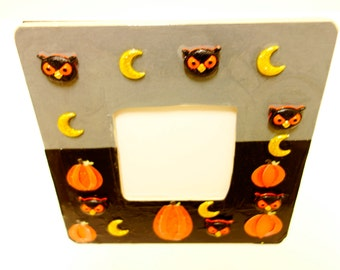 Happy Halloween Picture Frame, Halloween Frame, Scary Picture Frame, Spooky Frame, Art, Pumpkin Frame, Spooky Picture Frame, Halloween Gift