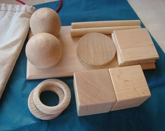Inspired Montessori geometrical set. Geometrical pieces. Development toys. Wooden toys. Match game. Educational games.