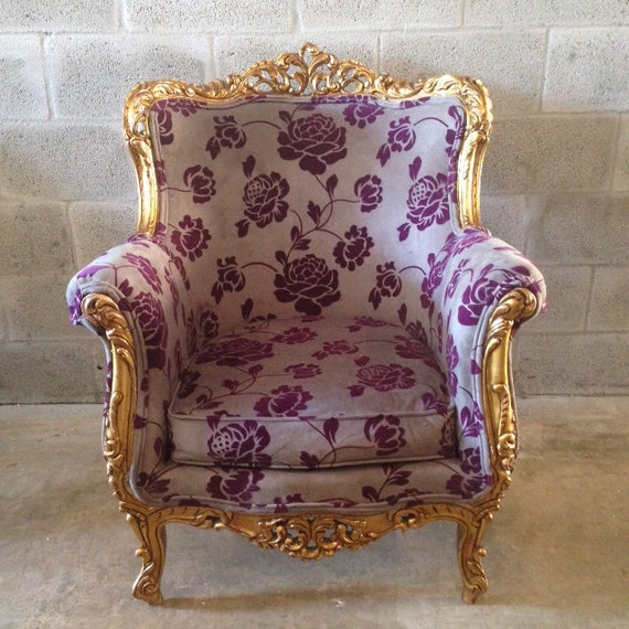 antique italian baroque chair wingback bergere fauteuil rococo. Black Bedroom Furniture Sets. Home Design Ideas
