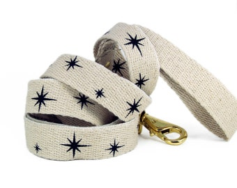 SHED brooklyn Sparkle Motion Dog Leash (vegan // hemp and brass)