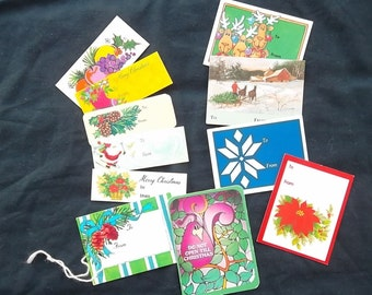 Vintage Christmas Gift Tag Assortment, 11 Tags Total