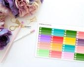 Three Heart Checkboxes -- Matte Planner Stickers