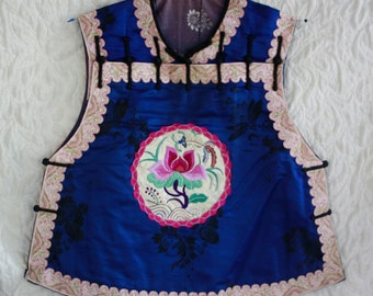 Antique Chinese Child's silk top vest