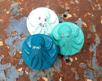 ALMOST GONE Octopus Knob - 32 Colors - Nautical - Beach