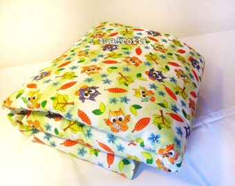 Quilt for cot with owls