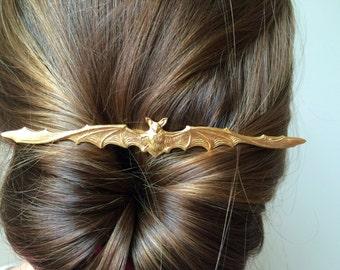 Bat hair pin gold bat bobby pin bat hair clip halloween hair pin halloween costume hair pin gothic hair pin goth hair pin steampunk