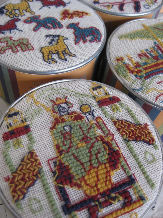 Sajou museum heritage bayeux tapestry embroidery kit