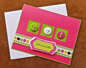 Its a Girl Baby Card -  Handmade New Baby Girl Card - Congratulations Card - Congratulations Baby Card - Baby Girl - Baby Shower - Pink Card
