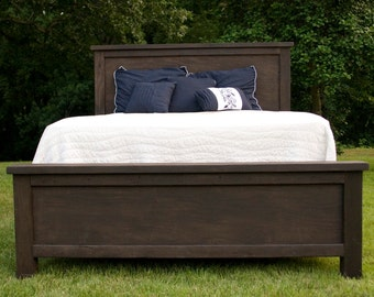 Modern Farmhouse Bed - Rustic Furniture - Wooden Bed