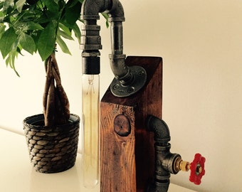 Industrial/Modern/Rustic Table Lamp - Desk Lamp - Light