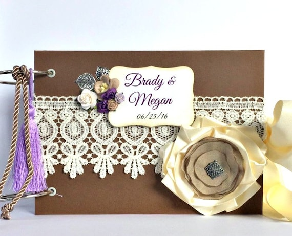 Wedding Album - Wedding Scrapbook Album - Custom Wedding Photo Album - Wedding Memory Book - Personalized Anniversary Gift - Love Album