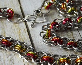 DIY Chain Maille Necklace Kit Pretty Parallel