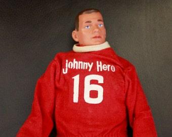 "1960's Johnny Hero Doll / Rosko Industries / 13"" Tall!"