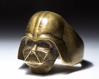 Darth Vader Ring, Star Wars, brass, selectable size, hadmade
