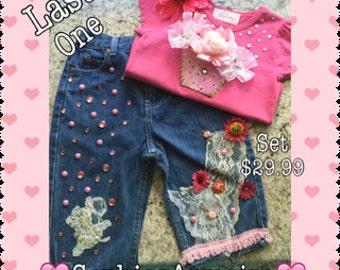 Girls Jeans*Jeans set*Denim Set*Baby Girls Denim Set*Baby Jeans*Bling Denim*