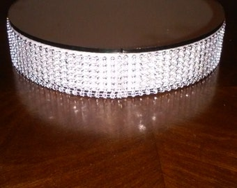 Mirror Faux Rhinestone Centerpiece or Candle Holder