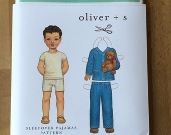 Oliver + S Pattern - Sleepover Pajamas Sewing Pattern - UK Seller!