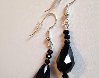 Elegant Black Drop Earrings
