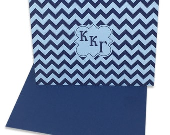 Kappa Kappa Gamma Chevron Note Cards