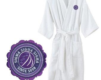 Sigma Sigma Sigma Patch Seal Bathrobe
