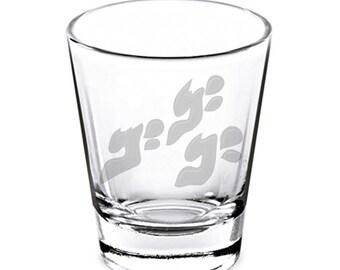 JJBA Menacing Shot Glass