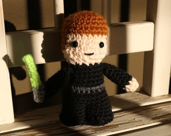 Star Wars Luke Skywalker Amigurumi,  hand crocheted