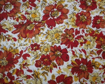 1 YD - Honeycrisp Floral Stella Cream