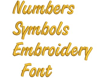 Machine Embroidery Font Designs - Font Letters, Numbers, Symbols Font Alphabet - 0.75,1 & 1.5 inch Sizes