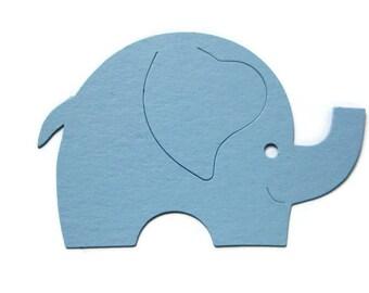 Paper Elephant Die Cuts Set of 25