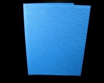 Modern Scales Embossed Blank Note Cards, Embossed Blank Cards, Embossed Blank Greeting Cards Set of 12 (Scales)