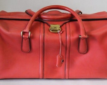 Designer Leather Duffel Bag